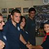 Tom shaking Keego's hand for best camper