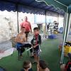 JonJon and Noah receiving their Bubblemaker certificate
