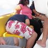 Keego fast asleep on the boat...