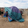 Pitching the hike tent....part of the cub challenge