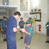 Jaz collecting one of his badges