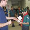 Jaz receiving his Tender Paw badge