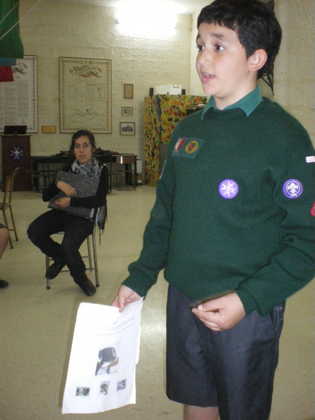 Julian doing his Pet Care badge
