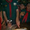 Theo cutting his cake