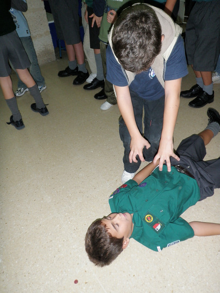 Our First Aider...Ben...and JonJon on the floor hehe
