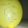Balloon with all the Cubs names during that meeting...incl the 2 Belgian leaders - Christine and Maud
