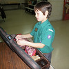 Jason getting ready to play for musician badge