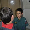 Tom explaining to a new cub George what fun Cubs is!