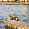 Kyle and Zach on the dinghy