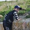 Ben trying to climb