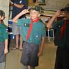 Alan's last salute to Akela and leaders
