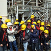 Group photo next to the turbines. Photo: Enemalta