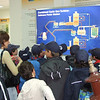 Cubs being shown how the gas turbines work via an electronic board by the Enemalta Engineer.  Photo: Enemalta