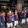 Cubs falled in outside the cinema just before watching toy story 3!