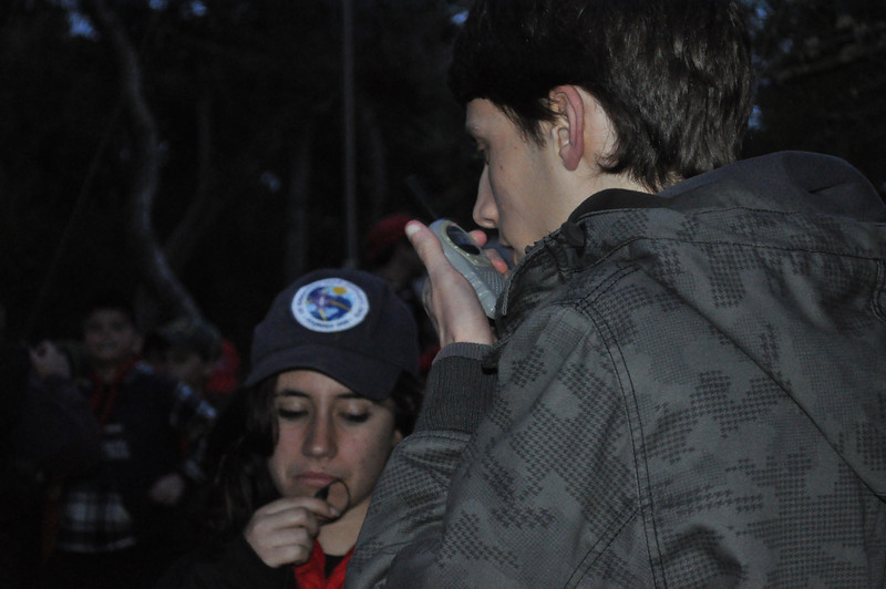 communicating via walkie taklies