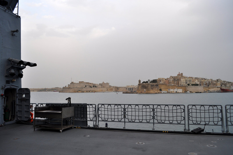 the view from the ship