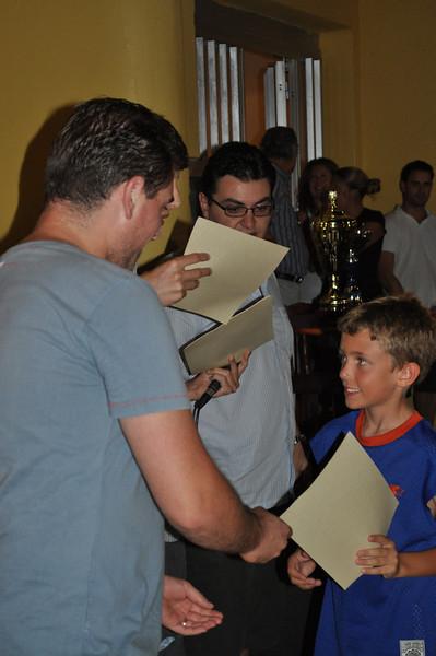 Alan receiving his award - Friendliness - WELL DONE!
