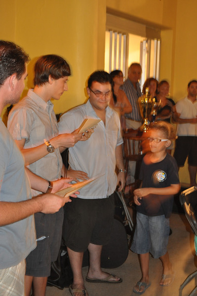 Michele receives his award for being part of the BEST Six for Summer 2010 - Blue Six