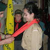 AGSL Ray putting on Rama's Sliema Scarf whilst telling her to wear it with pride.....
