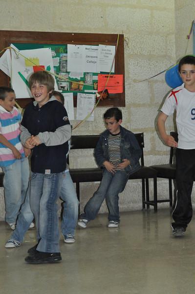 Ben dancing in the background