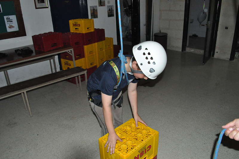 After a short discussion with the Link Six cubs about their Cub life...we got cracking on the fun....crate climbing!!