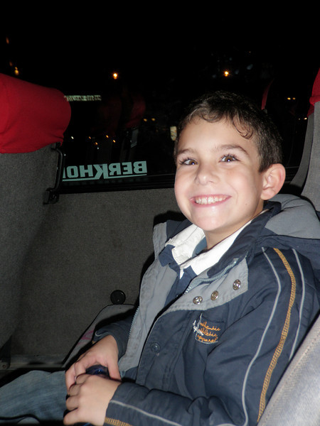 Ben on the way to the Panto