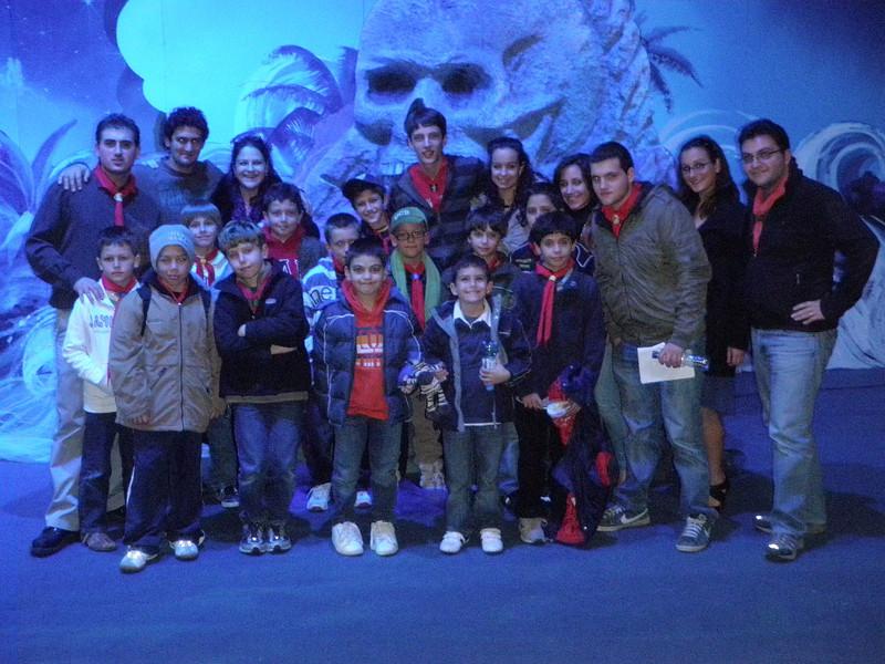 Group pic at the Panto