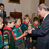 Photo: DOI<br /> <br /> The Prime Minister, the Hon. Lawrence Gonzi meeting the Sliema Pack Mascot - NOAH