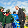 Two of our Cubs talking with the PM (Photo: Ministry for Resources and Rural Affairs)