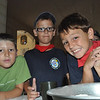 Max..Michele and Kane waiting to starting making the pizza dough