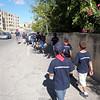 walking to mass