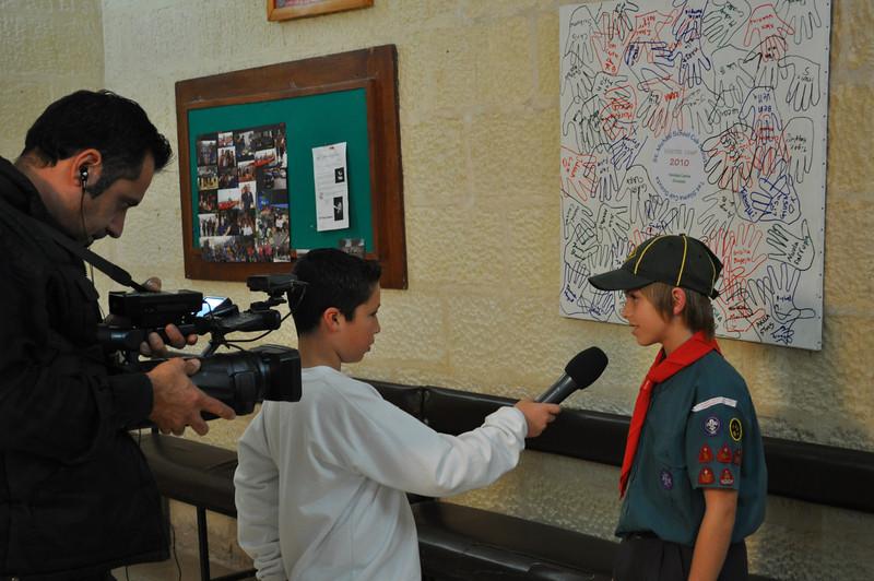 Miguel being interviewed :)