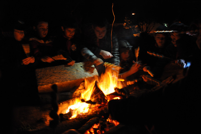 Cooking BP bread over the campfire