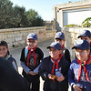 One of the Falcon Range instuctors welcoming the Cubs and explaining the names of the birds