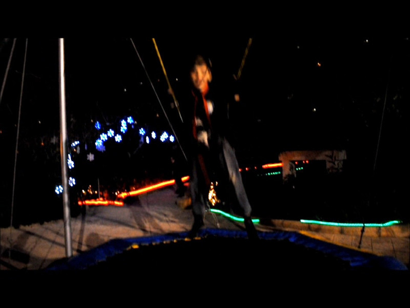 VIDEO 7: George bungee jumping trampoline flips and turns!!