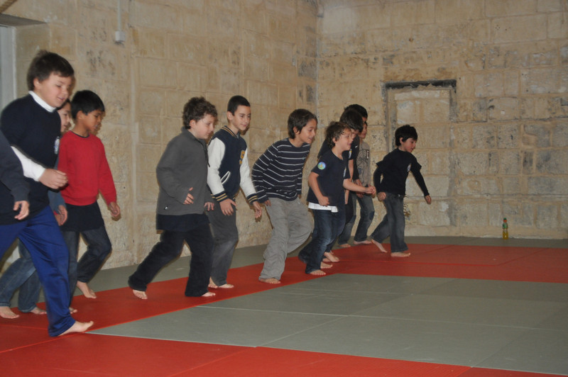Cubs learn how to walk in judo