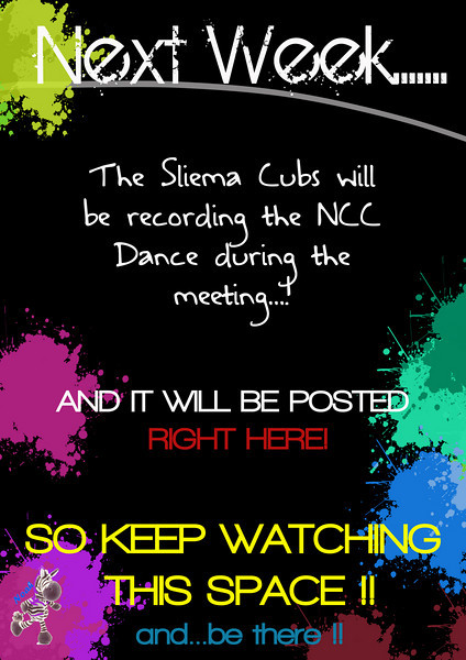 Recording will take place on Thursday 24th March!! :) BE THERE!!!<br /> <br /> Video Posted in the National Cub Camp folder!! Go watch it!