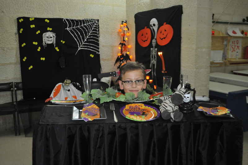 Michele and his Halloween costume!! A Halloween Dinner Table!