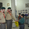 Ben saying his Cub Scout Promise in front of Akela