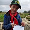 Jan starts taking his Nature Hike notes... :) tajjeb Jan!