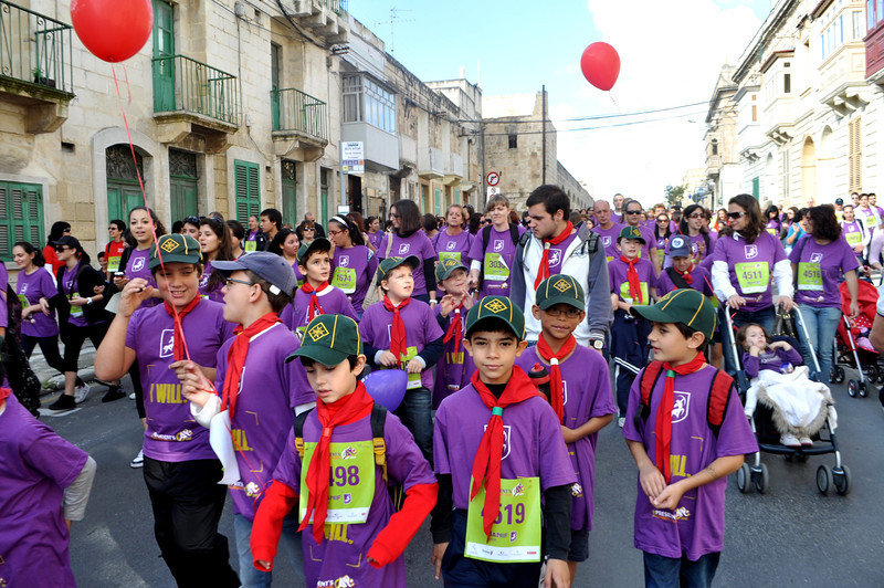 Sliema Cubs join thousands of other people for the walk