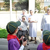 Cubs wave hello to the Nuns