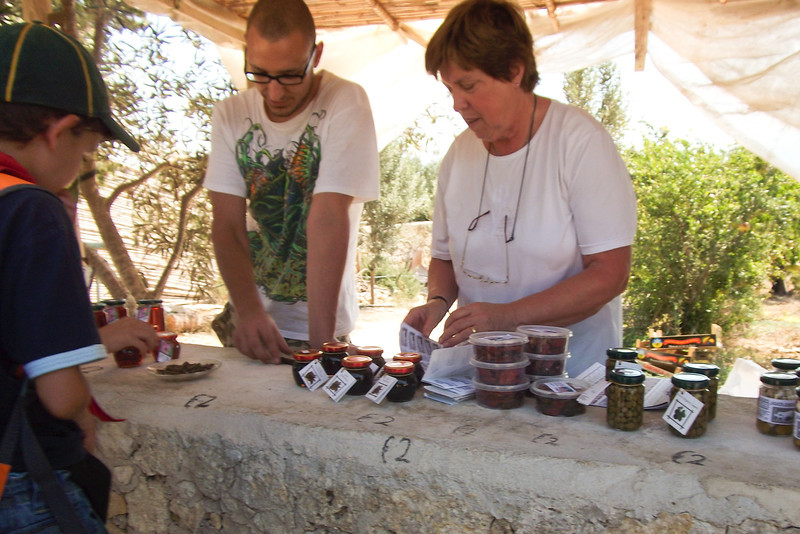 Photo taken from collection of Cub Ben - A snapshot of sellers just outside Ggantija temples with traditional Gozitan and Maltese products aimed at tourists