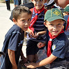 Luke, Nicolas and Julian enjoy seeding their flowers and give back to the environment