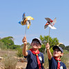 Their windmill works! The idea is to teach the Cubs that the wind can be used as a source of energy!