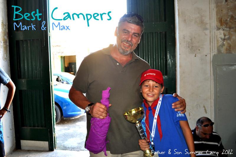 BEST CAMPER WINNERS - Father & Son