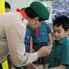 Akela presents Shaun with his WOSM Badge