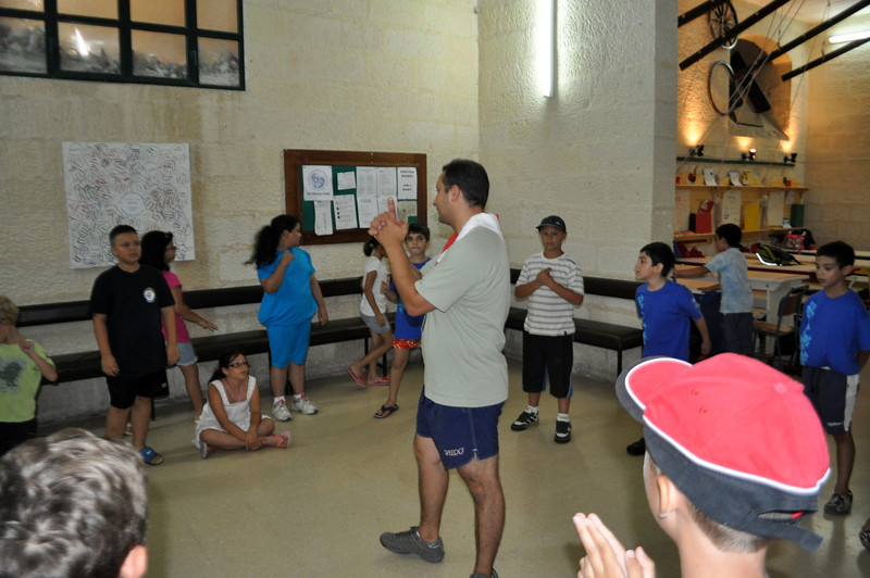 Playing the 2nd ice breaking game to get to know each other just a little bit more!