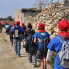 Hiking to the field in Luqa