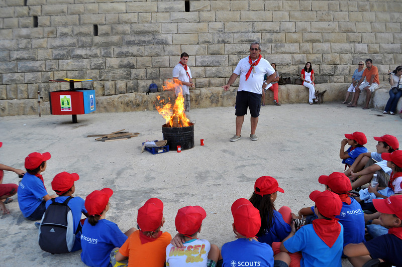 Campfire in Sliema by the beach